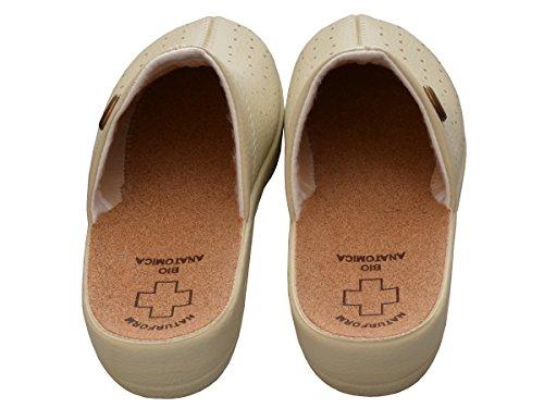 Mujer chanclas Sandalias comodidad corcho Zapatillas trabajo Modelo 3512 Beige