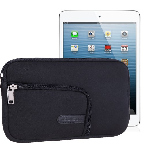 i-Blason Super Cushion Neoprene Sleeve Case Cover Pouch for Apple iPad Mini 3 / iPad Mini / iPad Mini with Retina Display and Samsung Galaxy Note 8.0 Tablet (Black)