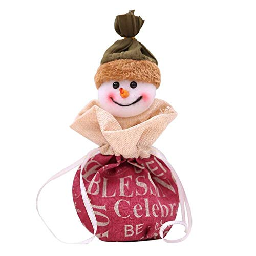 (Stockings Gift Holders - Christmas Fruit Box Snowman Doll Apple Bag Gift Bags Year Decorations Navidad Ornaments - Children Chrismas Icicles Sac Storag Bag Year Fabric Bags)