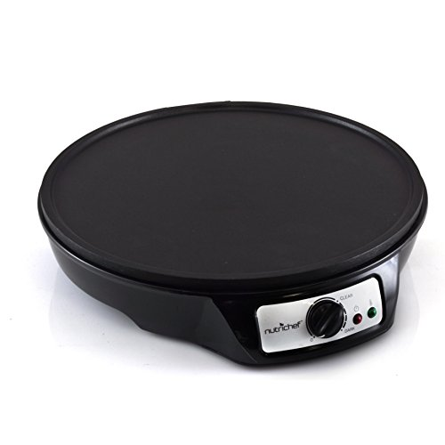 NutriChef Electric Griddle & Crepe Maker | Nonstick 12 Inch Hot Plate Cooktop | Adjustable Temperature Control | Batter Spreader & Wooden Spatula | Used Also For Pancakes, Blintzes & Eggs (PCRM12.V7) by NutriChef (Image #2)