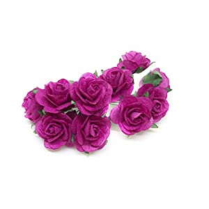 "Savvi Jewels 1"" Fuchsia Pink Paper Flowers Paper Rose Artificial Flowers Fake Flowers Artificial Roses Paper Craft Flowers Paper Rose Flower Mulberry Paper Flowers, 20 Pieces 40"