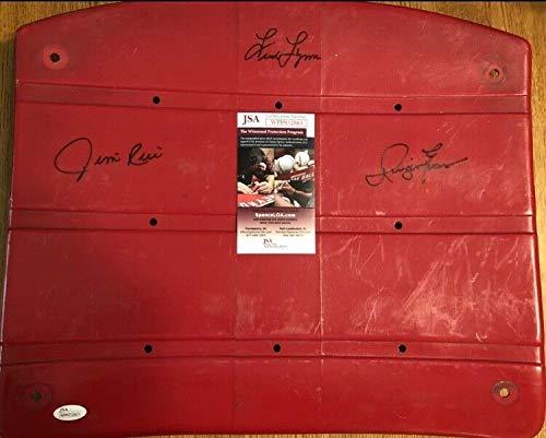 Autographed Signed Autograph Jim Rice/Fred Lynn/Dwight Evans Fenway Park Seat Bottom JSA Authentic ()