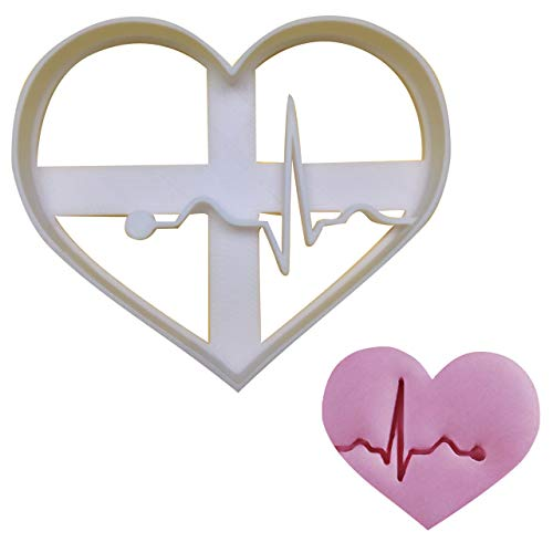 EKG/ECG cookie cutter Large 1 pc Ideal as gifts for doctors nurses or for a Medical themed Party