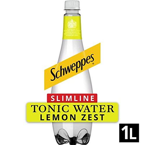 Schweppes Tonic no engorda con Cáscara de Limón 1L: Amazon.es: Alimentación y bebidas