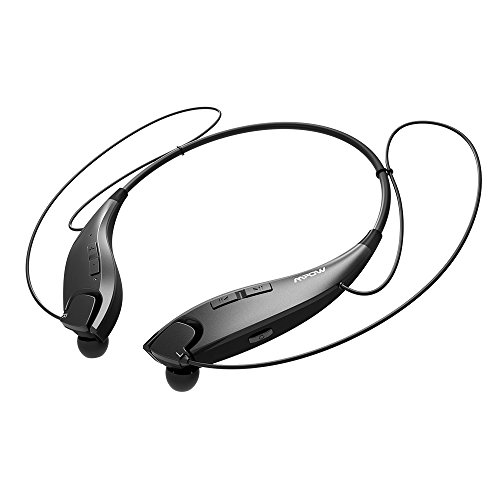 Portable Retractable Headphone - Mpow Jaws [Gen-2]  Bluetooth Headphones Call Vibrate Alert Wireless Neckband Headset Stereo Noise Reduction Earbuds w/ Mic