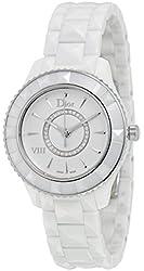 Christian Dior VIII Diamond White Ceramic and Steel Ladies Watch CD1231E2C002