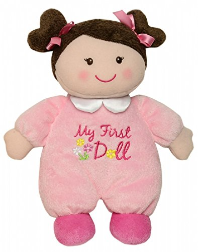 """Baby Starters """"My First Doll"""" Plush Toy - Pink w/Brown Hair"""