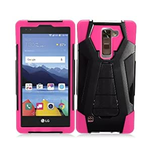 LG Stylo 2 Plus Case, IECUMIE A2 Armor Skin Protective Cover Case W/ Stand for LG G Stylo 2 Plus - Purple (Package Include an IECUMIE Stylus Pen)
