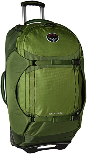 Osprey Packs Sojourn Wheeled Luggage, Nitro Green, 80 L/28