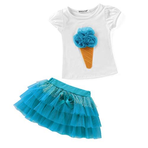 Due Blue Clothes Estivo Size Green Set Abito Baby T Tutu 120cm Pezzi Cute shirt E color Mallty qOf6gaf