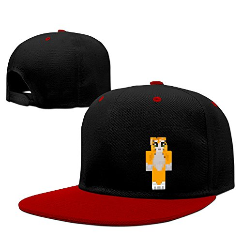 Cat Adjustable Snapback Hip-hop Baseball Cap Red (Youth Girls Mode Pants)