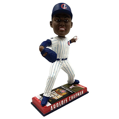 Aroldis Chapman Chicago Cubs 2016 World Series Special Edition Ticket Base Bobblehead