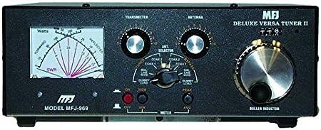 MFJ-969 Amateur Radio Deluxe HF afinador de antena con 4:1 Balun incorporado 300W 6-160 metros