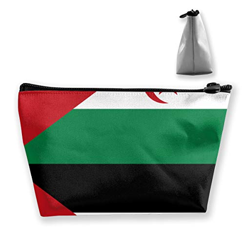 - Flag Of Western Sahara Tixing Travel Portable Cosmetic Bag Wristlet Pouch MultiFunction Make-up Bags