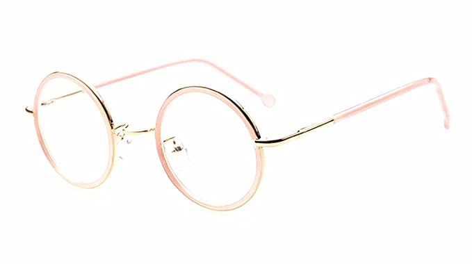 8bd4bef6be Image Unavailable. Image not available for. Color  Pink Vintage Small Round  Eyeglass Frames ...