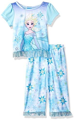 Disney Girls Frozen 2-Piece Pajama Set, Glittering