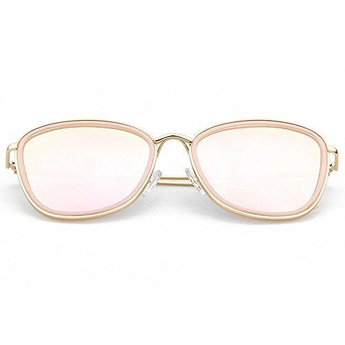 Style designer UV plein voyage tous protection pour nouveauté ronde les de Gracieux lunettes soleil de Rimmed conduite de forme Lady polarisées la visages cadre Rose soleil lunettes nuances brillants 50OqwZ