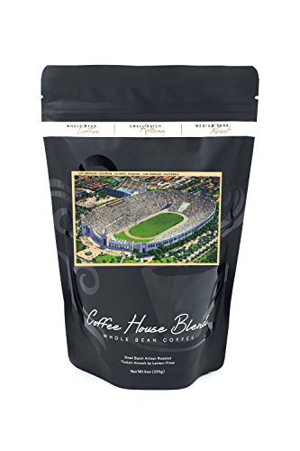 Los Angeles, California - Aerial View of the Coliseum (8oz Whole Bean Small Batch Artisan Coffee - Bold & Strong Medium Dark Roast w/Artwork)