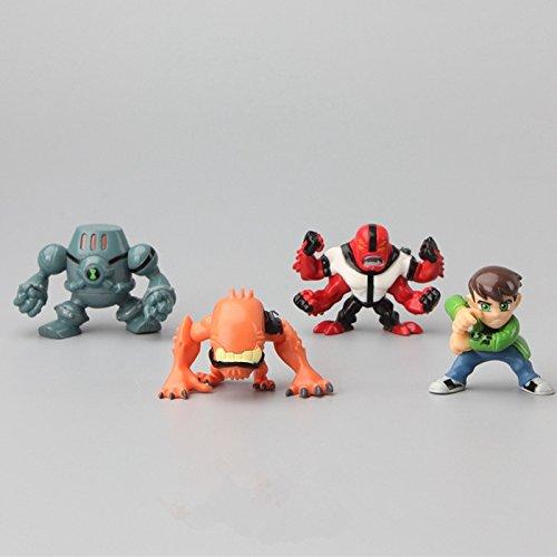 Amazon com: New 8Pcs/Set Ben 10 Action Figures Toys 3-5CM