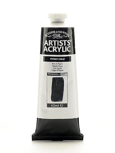 Winsor & Newton Artists' Acrylic Colours payne's gray 60 ml 465 [PACK OF 2 ]