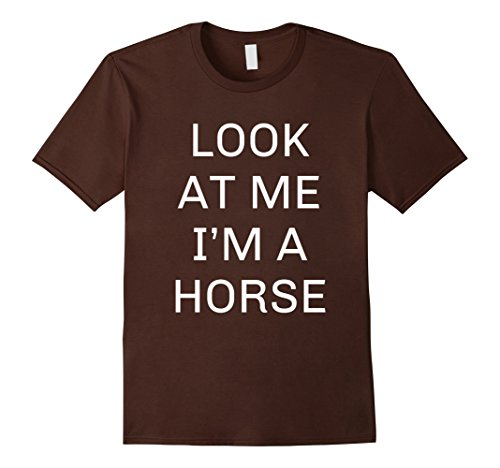 Top 10 Halloween Costumes For Adults (Mens I'm a Horse Halloween Shirt Funny Costume for Kids Adults Small Brown)