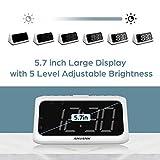 ANJANK Digital Alarm Clock FM Radio - Large LED
