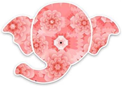 Autosticker 158 x 11 cm roze dierolifanten grafische pvc autosticker sticker stickers