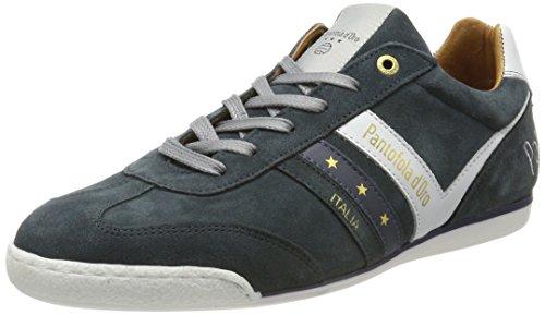 Pantofola d'Oro Vasto Suede Low, Sneaker Uomo Blu (Ocean Blue)