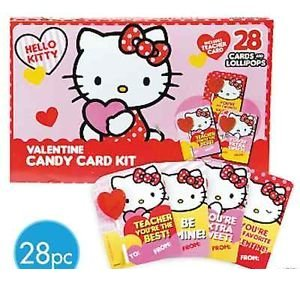 Amazon Com Hello Kitty Valentines Day Candy Card Kit 28 Cards And