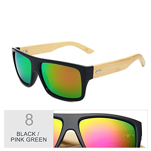 Mujer D Bambú Gafas Gafas Black De Gafas De Madera Sol Green Unisex Uv400 Hombre Sol Gafas De De Pink Era Brown De Deporte TIANLIANG04 Leopard De Mujeres dtxq7wRt