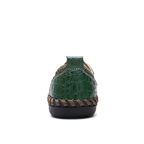 Mocassino 44 Verde Tinta Pelle da Tacco Unita EU Alto Dimensione in Color Uomo rzUwrPqZ