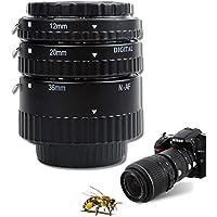Meike Metal Mount Auto Focus Macro Extension Tube Set 12mm 20mm 36mm For NIKON SLR Cameras Black