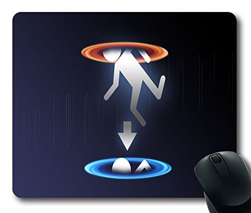 Custom PC game Mouse Pad with Portal Video Games(1) Non-Slip Neoprene Rubber Standard Size 9 Inch(220mm) X 7 Inch(180mm) X 1/8(3mm) Desktop Mousepad Laptop Mousepads Comfortable Computer Mouse - Pad Game Video