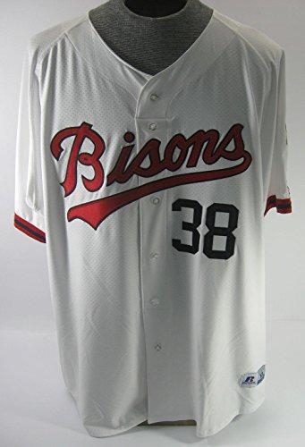 2017 Buffalo Bisons Dalton Pompey #38 Game Used Throwback '88 Baseball Jersey - Game Used MLB Jerseys