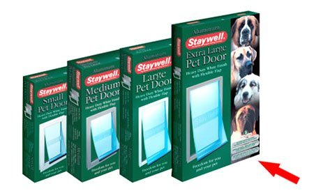 Staywell Heavy Duty Aluminium Pet Door (Extra Large) for Dogs up to 100kg White
