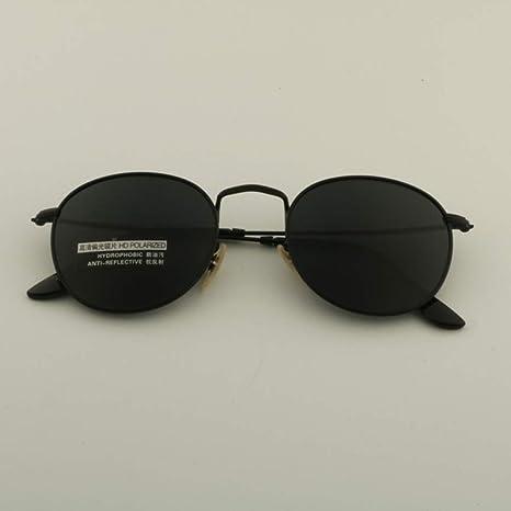 Yangjing-hl Gafas de Sol Redondas polarizadas Mujeres ...