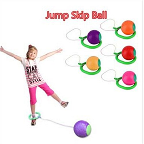 ULAKY 1pcs Skip Ball Outdoor Fun Toy Balls Classical Skipping Fitness Equipment Playground Color Randomly Sent by...