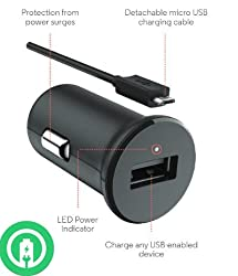 Turbo Power 15w Asus Memo Pad Hd 7 Car Charger With Detachable Hi-power Microusb Cable!