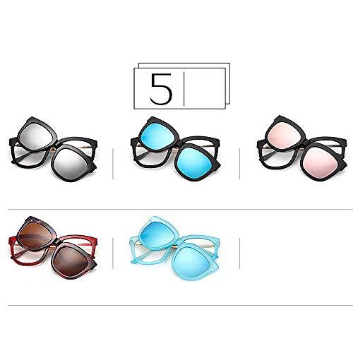 Lunettes Bleu Hommes Gu lentilles Peggy de rétro Soleil Plein Cadre interchangeables Couleur Rose avec pour UIpBawR