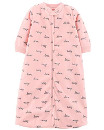 Carter's Unisex Baby Fleece Sleepbag Sleepsuit, Pink Love, Medium 6-9 Months by Carter's