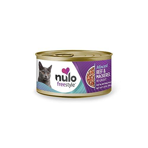 Nulo Grain Free Canned Wet Cat Food (Beef & Mackerel, 3 oz, Case of 24)