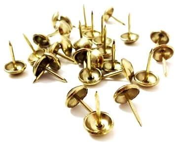 DECORATIVE UPHOLSTERY NAILS WHITE /& GOLD STUDS TACKS PINS