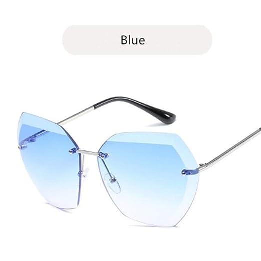 AGGIEYOU Gafas sin Montura Cuadrada Lente de Corte Gafas de Sol ...
