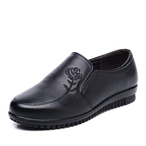 Zapatos de mujeres/Mamá y fondo suave zapatos/Zapatos de tacón plano/Folk estilo bordado Zapata A