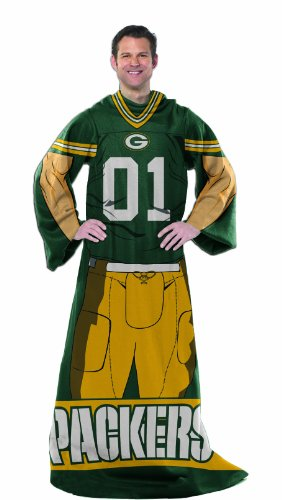 NFL Green Bay Packers Full Body Player Comfy Throw