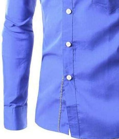 U/A Camisa de manga larga para hombre, diseño de corte ...