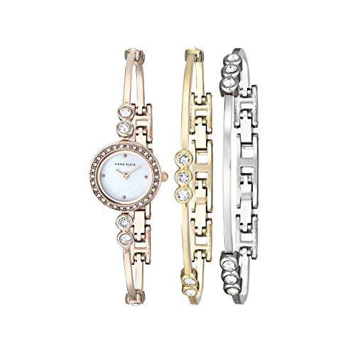 Anne Klein Women's AK/1690TRST Swarovski Crystal-Accented Ro...