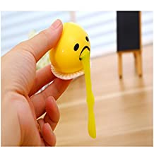 szsaichengmei Cute Yellow Round Vomiting & Sucking Lazy Egg Yolk Vent Stress Tricky Game Relief Toys