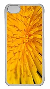 LJF phone case Customized iphone 5C PC Transparent Case - Yellow Flower 14 Personalized Cover