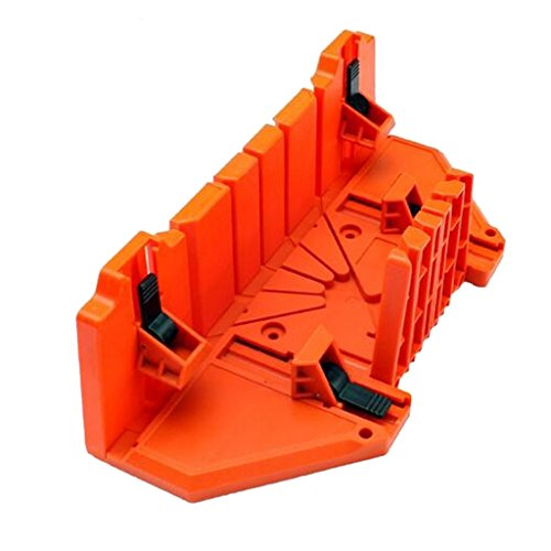Box Precision Miter (Fityle Saw Mitre Box, Woodworking Miter Box Precision Hand Mitre Box Plastic Miter Box Double Sided Teeth - 14inch with Clamp)